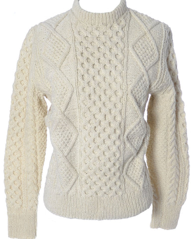 Vintage White Fisherman's Sweater Winter