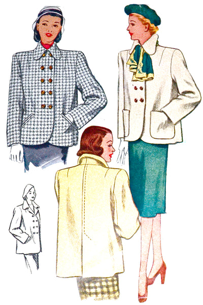 McCall 6814 Vintage Jacket Sewing Pattern