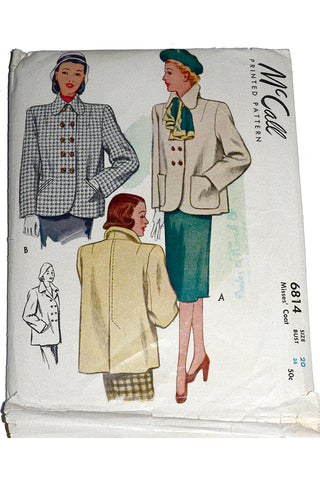McCall 6814 Sewing Pattern Vintage Jackets