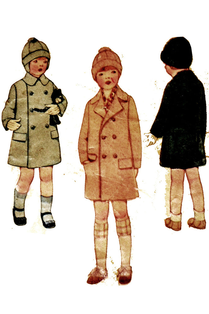 McCall 4776 1928 vintage boys coat and hat pattern
