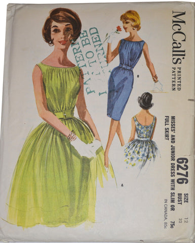 McCall's 6276 uncut vintage dress pattern 32B - Dressing Vintage