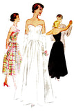 McCall 8235 vintage wedding dress evening gown pattern