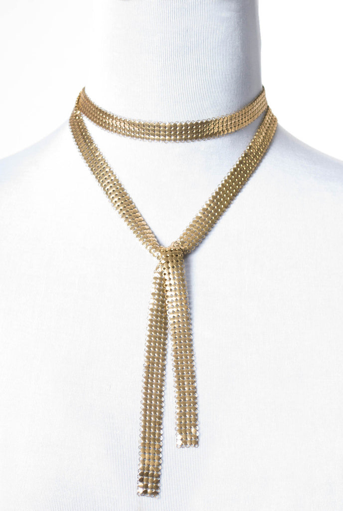 Gold mesh Whiting and Davis ? necklace