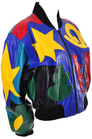 Michael Hoban North Beach Leather Colorful Jacket