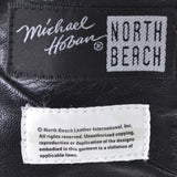 Michael Hoban North Beach Leather Bomber Jacket 1980s graphic Vintage