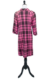1960s vintage coat pink and black plaid