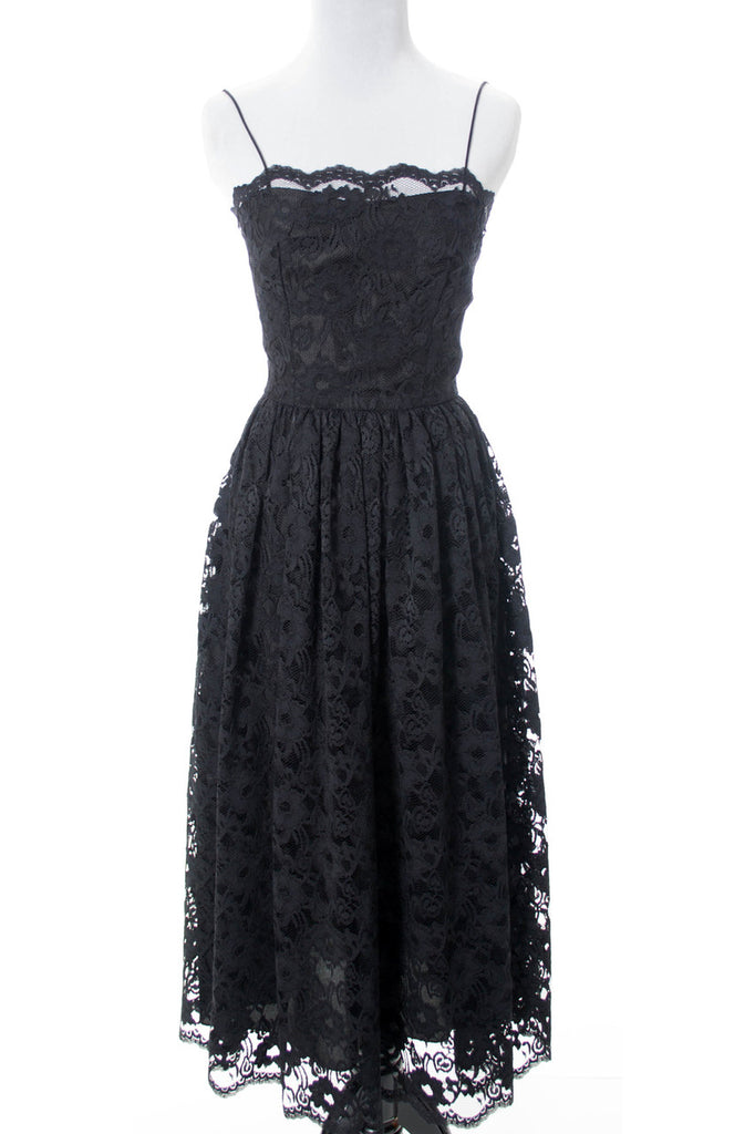 Black lace vintage dress Mindy Malone 60s