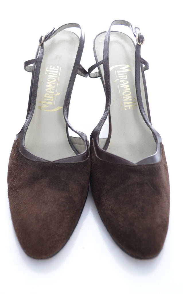Brown Suede Vintage Shoes 1970s Miramonte