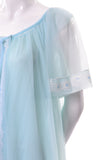 Miss Elaine 60s Vintage Blue Peignoir Nightgown robe