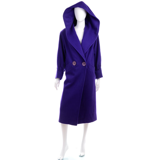 Miss New Yorker Vintage Purple Coat With Hood
