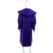 Miss New Yorker Vintage Ladies Purple Coat With Hood