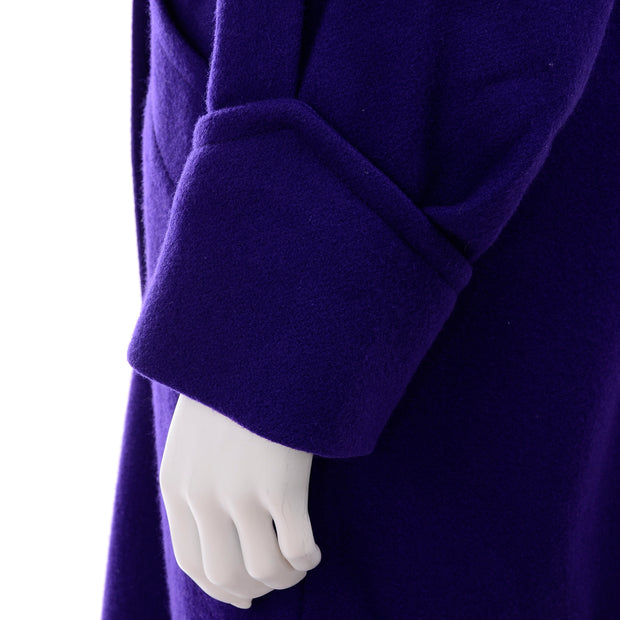 Hooded Vintage Purple Coat With Hood