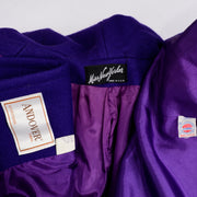 Miss New Yorker Vintage Purple Coat With Hood Andover Wool