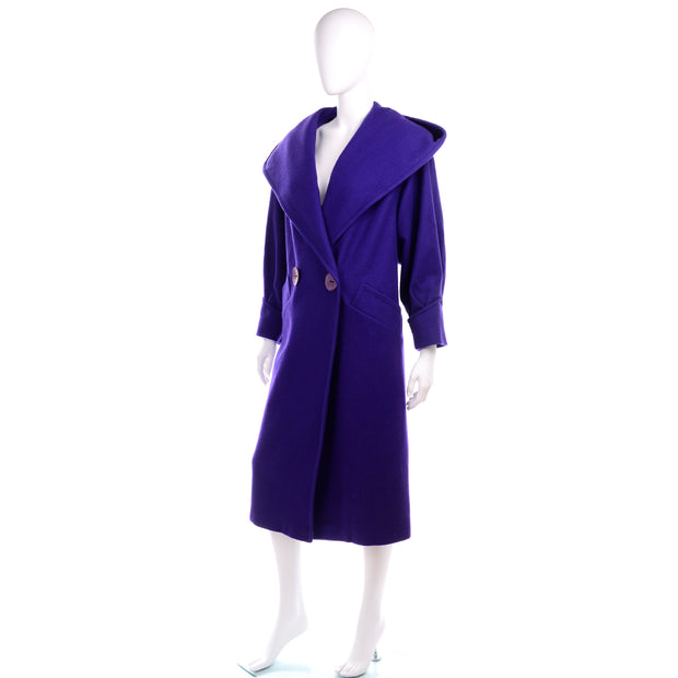 Vintage Miss New Yorker Purple Coat With Hood