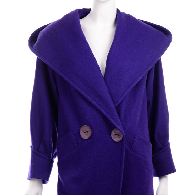 Miss New Yorker Vintage Purple Coat Hooded
