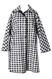 1960s Mod Black White 1960s Vintage Coat