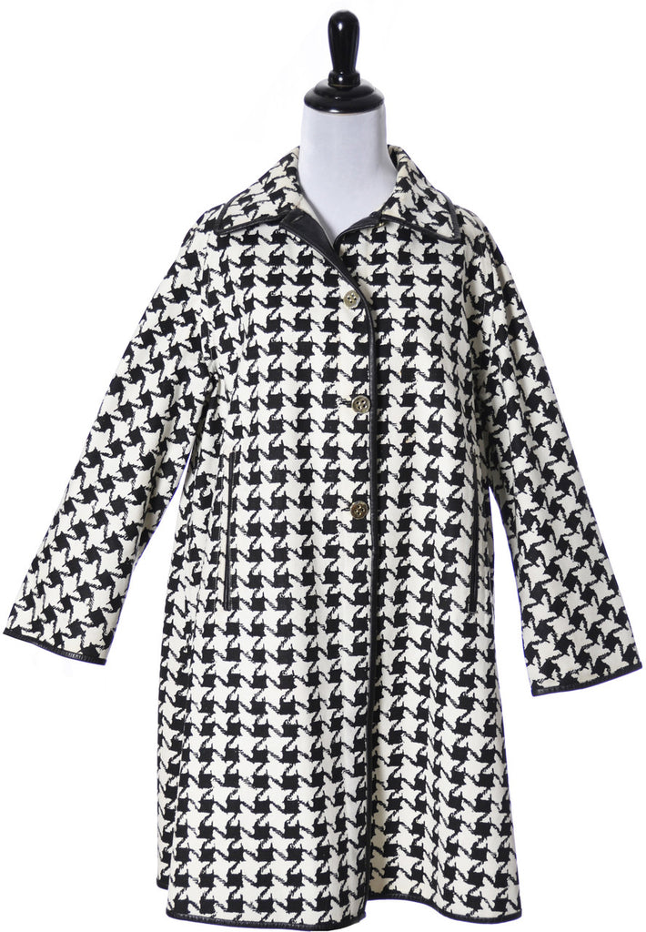 Houndstooth check mod vintage coat 1960s