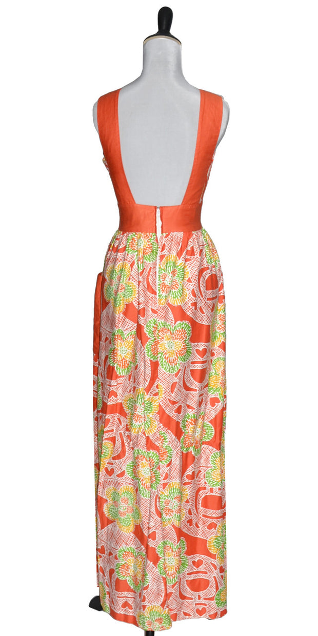bright vintage dress tropical Nalii Hawaii