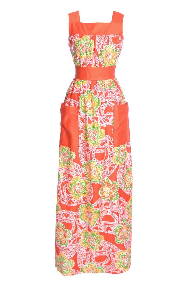 Nalii Honolulu vintage dress tropical maxi