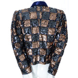 Nancy Miller Vintage Beaded Short Tuxedo Jacket Evening Coat Silk - Dressing Vintage