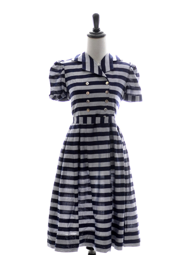 1950s little girl's blue vintage dress Nathan Krauskopf