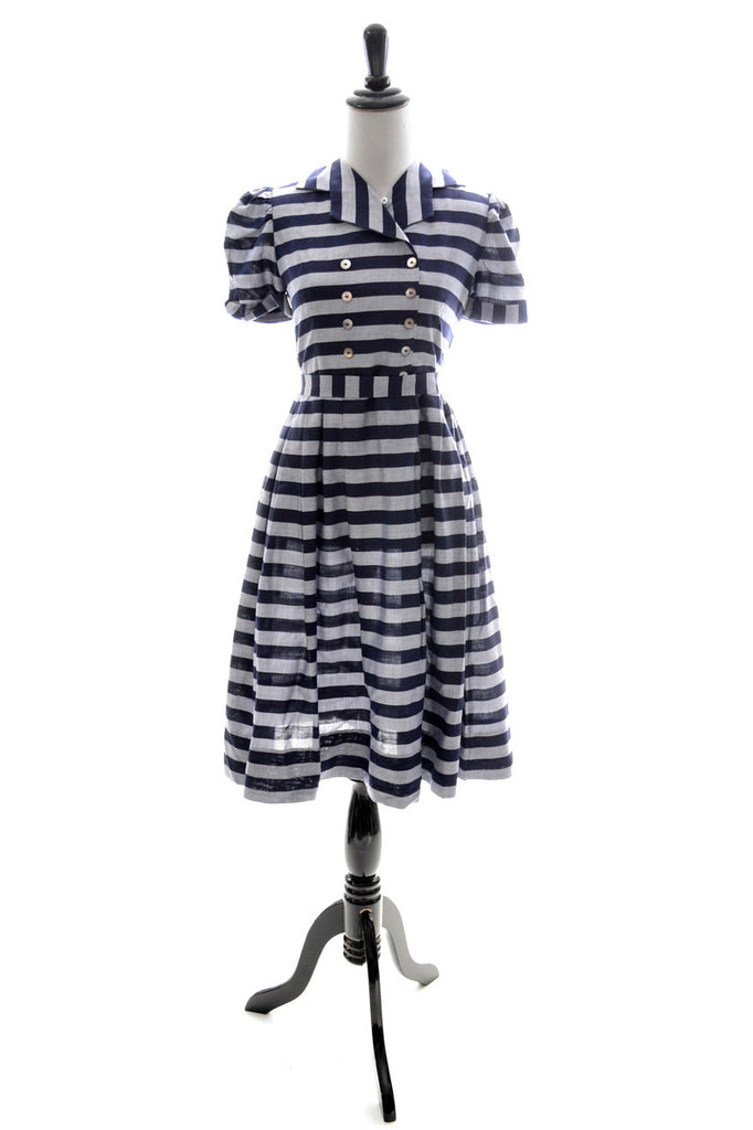 1950s little girl's blue vintage dress Nathan Krauskopf childrens