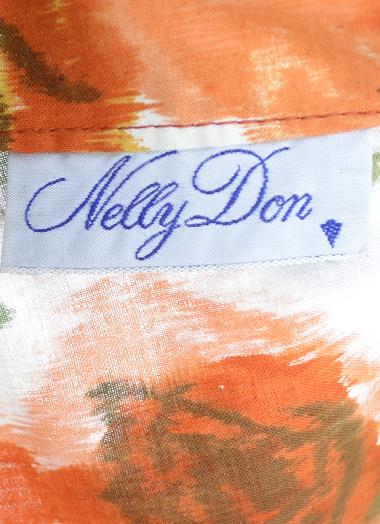 Nelly Don vintage floral dress 1960s