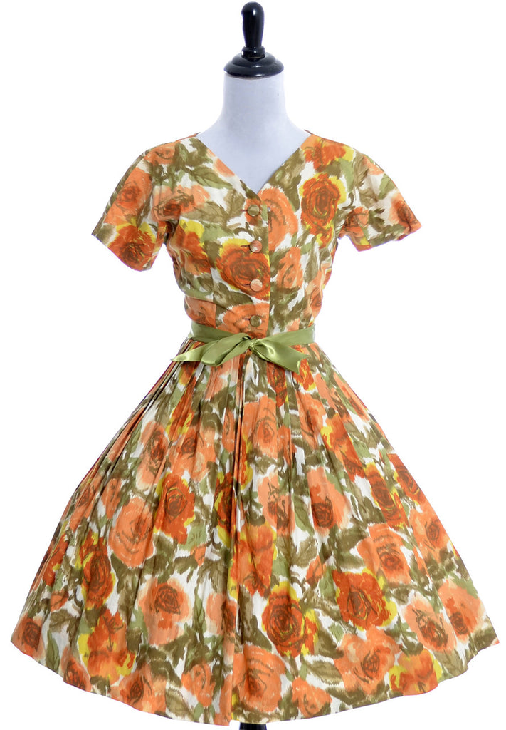 Vintage dress 1960s Nelly Don floral