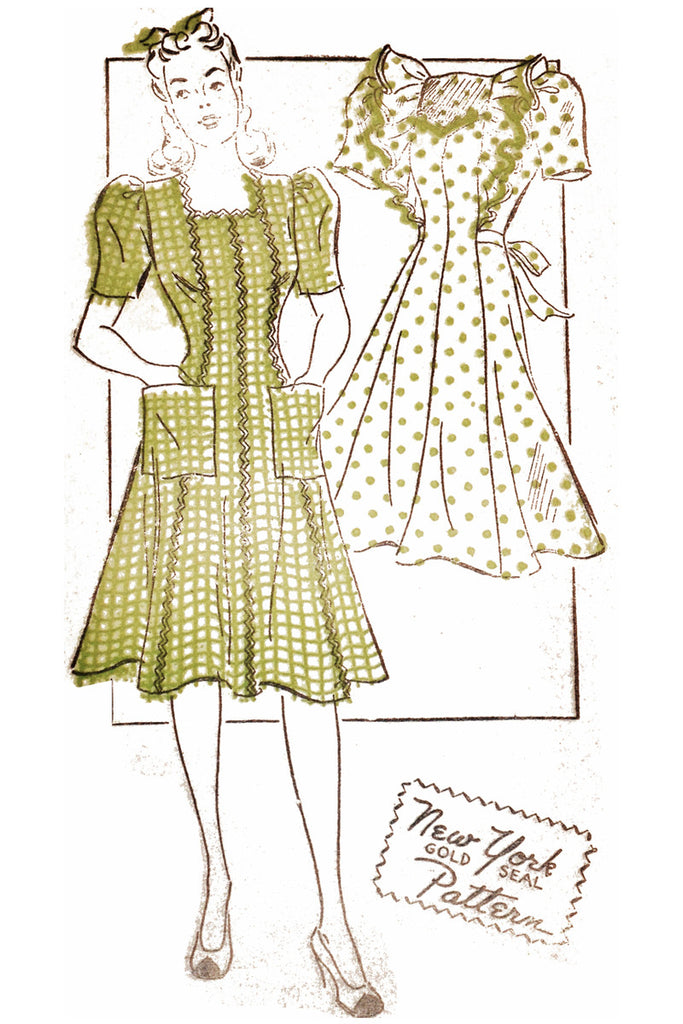 New York 1461 vintage 1940s dress pattern