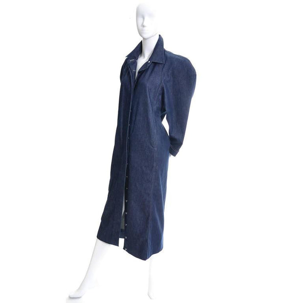 Rare Norma Kamali vintage 1980's denim dress