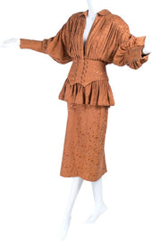 1980's Norma Kamali Skirt and Jacket Dress