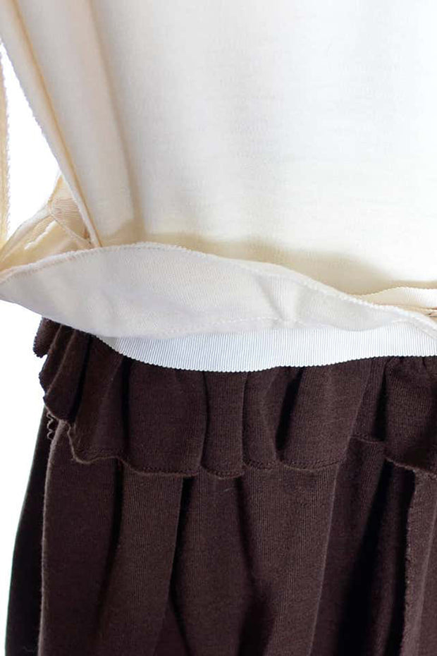 Norman Norell Vintage Dress 1960s Brown Knit Custom