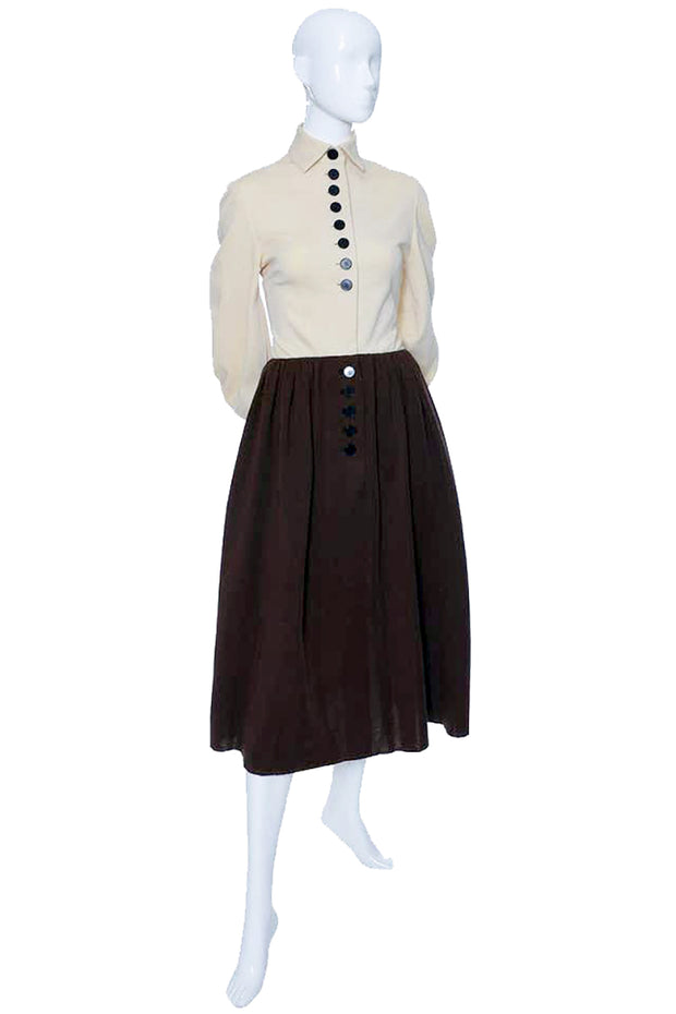 60s Norman Norell Vintage Dress 1960s Brown Knit