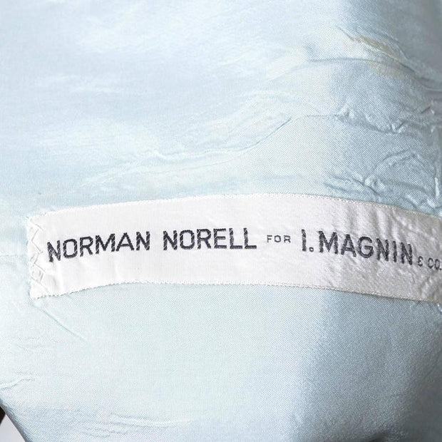 Norman Norell light blue linen dress