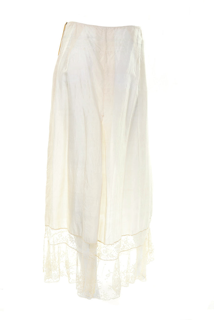 Vintage off white half slip size small
