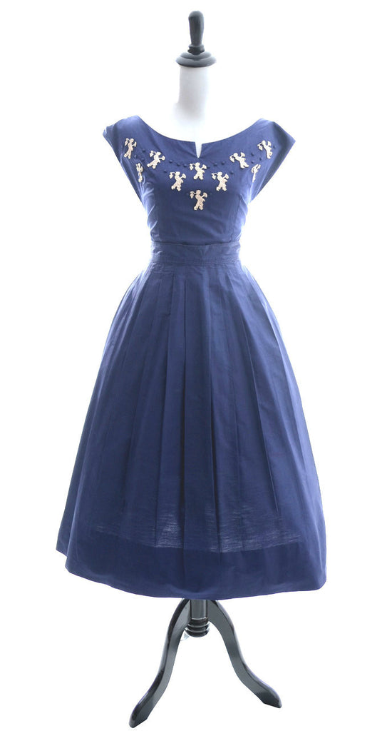 1950's vintage dress novelty appliques