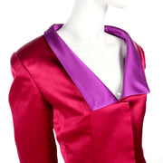 Purple and red satin jacket size 12