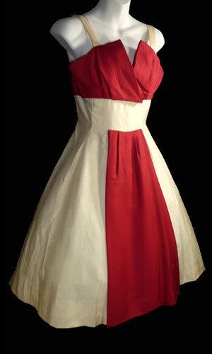 Jacques Heim Vintage 50s designer dress