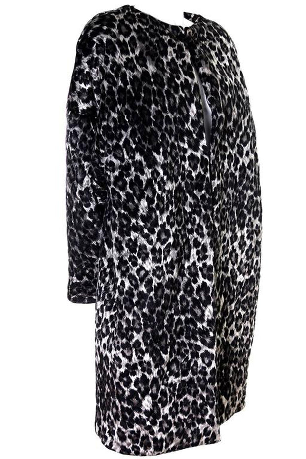 Patrick Kelly Animal Print Vintage Puff Coat