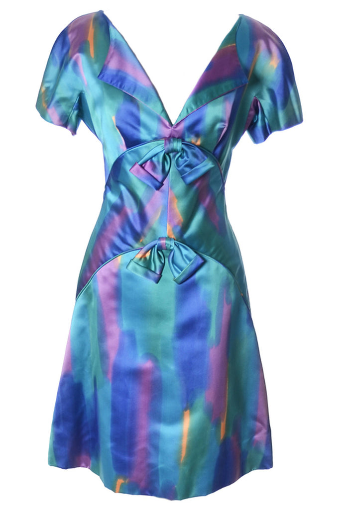 1960s watercolor dress