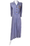 Vintage 1940's lavender beaded dress