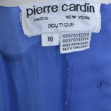 70s Pierre Cardin Vintage Dress Blue Red