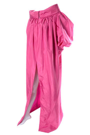 Pink Satin Evening Coat