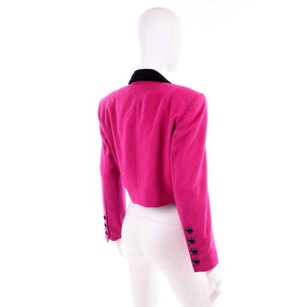 Escada Pink Cropped Vintage Jacket by Margaretha Ley 1980s