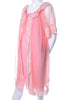 2 pc Vintage Pink Peignoir Nightgown Robe Set