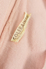 Pretty soft pink vintage cashmere sweater with bow SOLD - Dressing Vintage