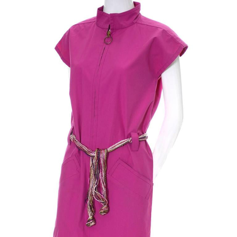 Pink Yves Saint Laurent vintage dress