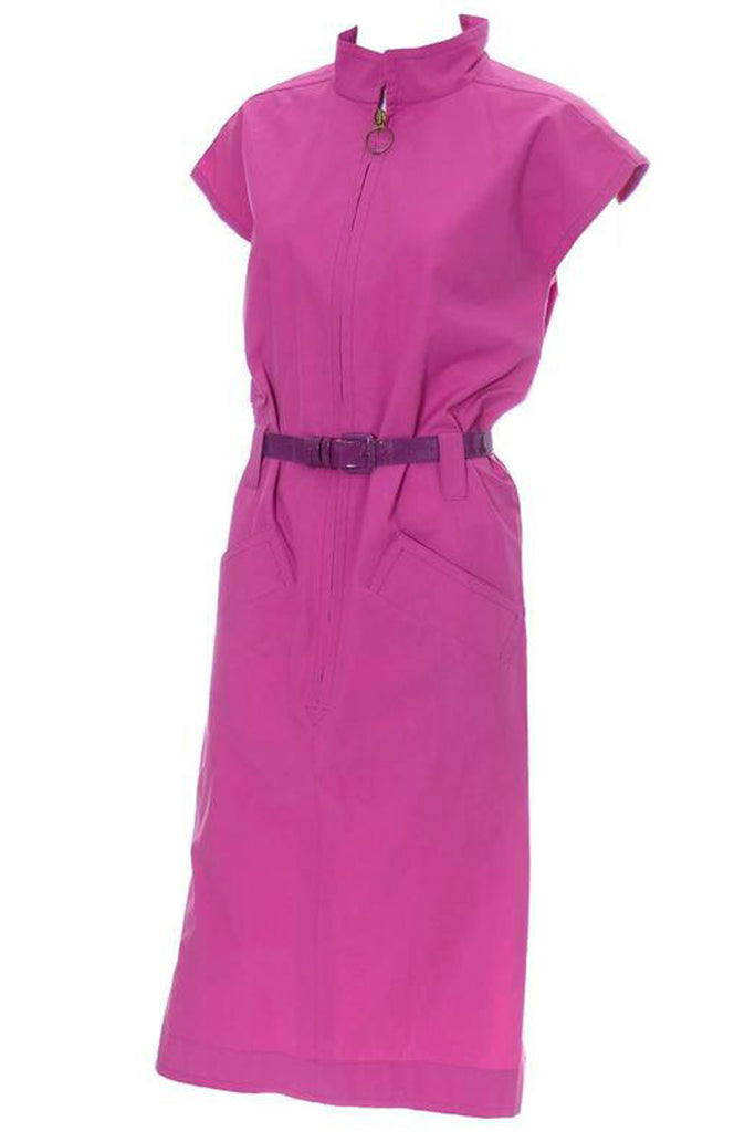 Pink YSL vintage cotton dress