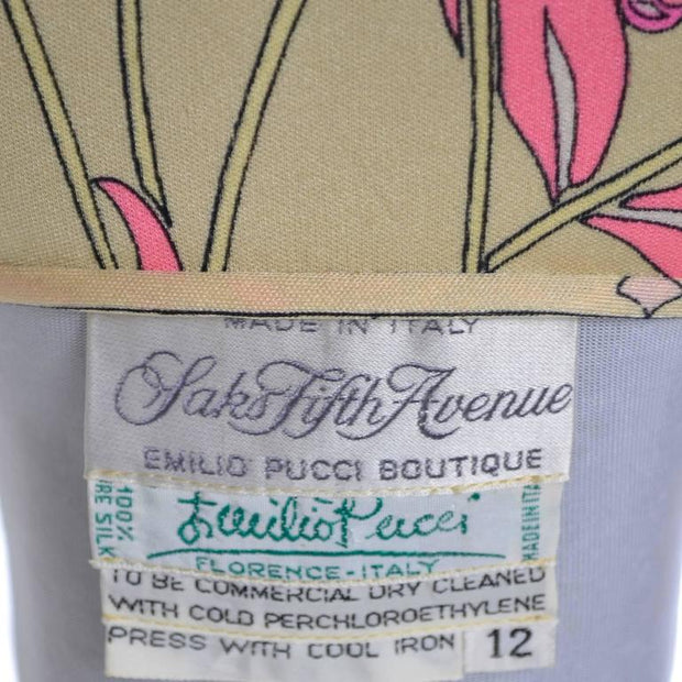 1970's Saks Fifth Avenue Emilio Pucci Label