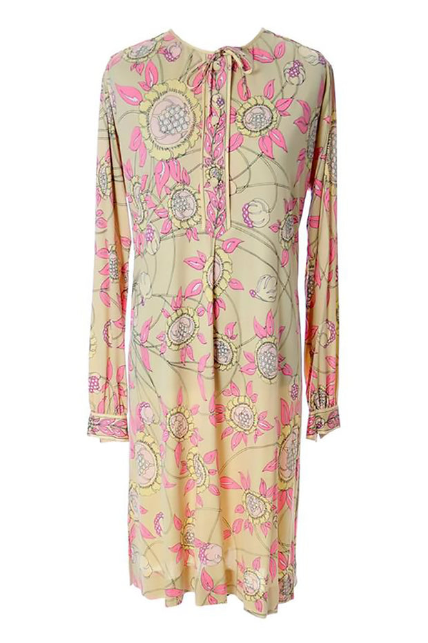 Pucci floral silk jersey dress